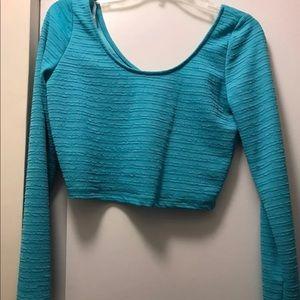 Material Girl Long Sleeve Crop Top, NWT. S